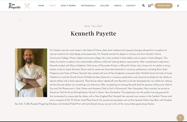 Chef Kenneth Payette